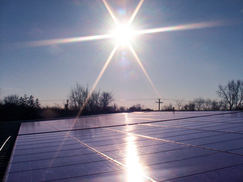 GREEN power: Sun powering our solar panels